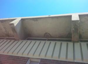 crumbling concrete overhang